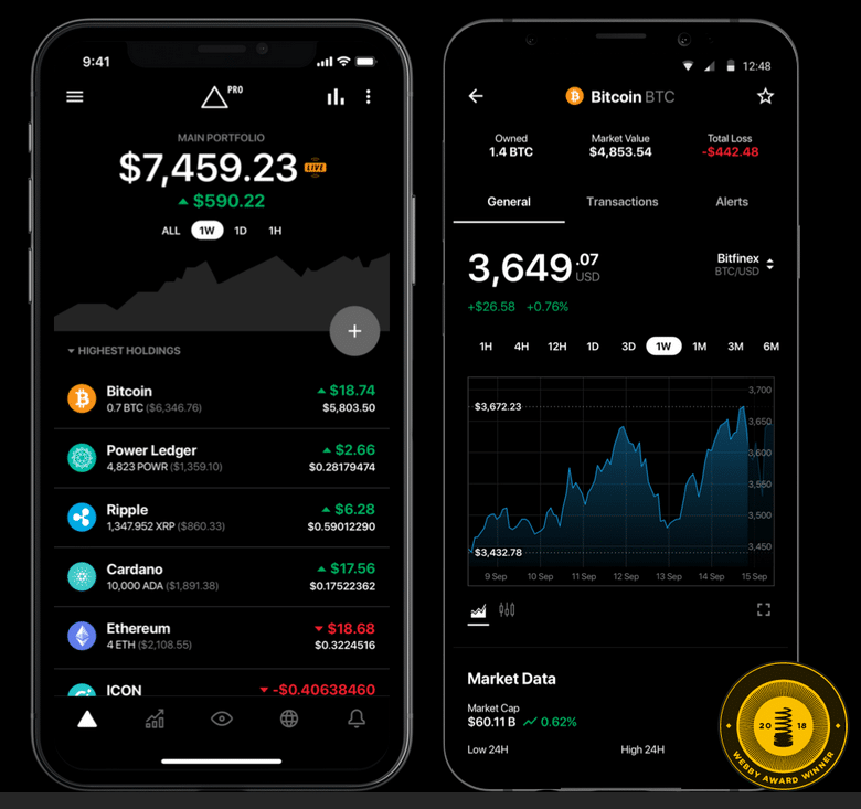 top cryptocurrency apps 2021