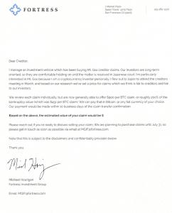 mt.gox fortress group lettera bitcoin