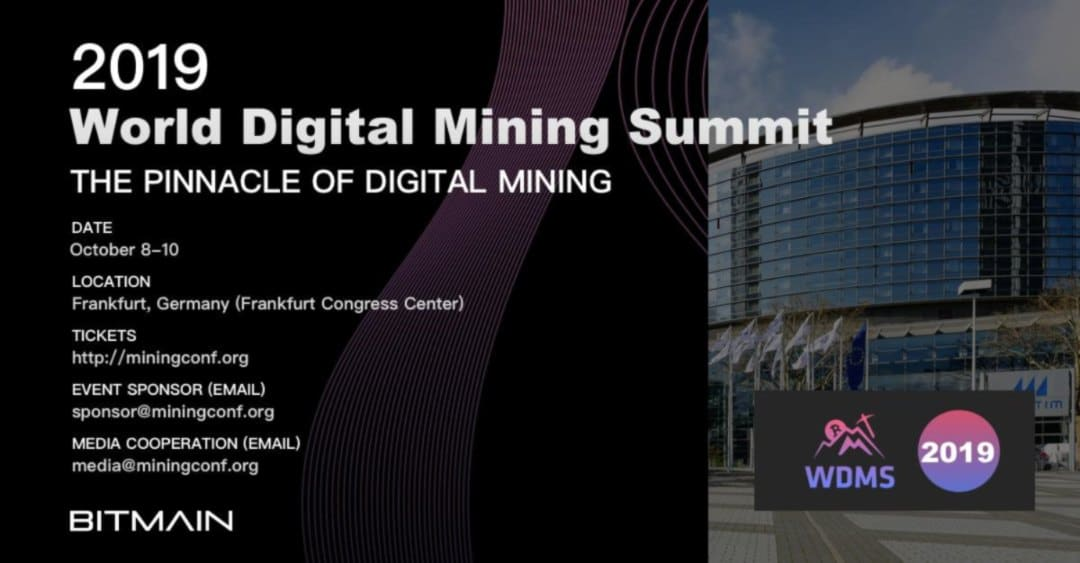 Bitmain annuncia il World Digital Mining Summit 2019