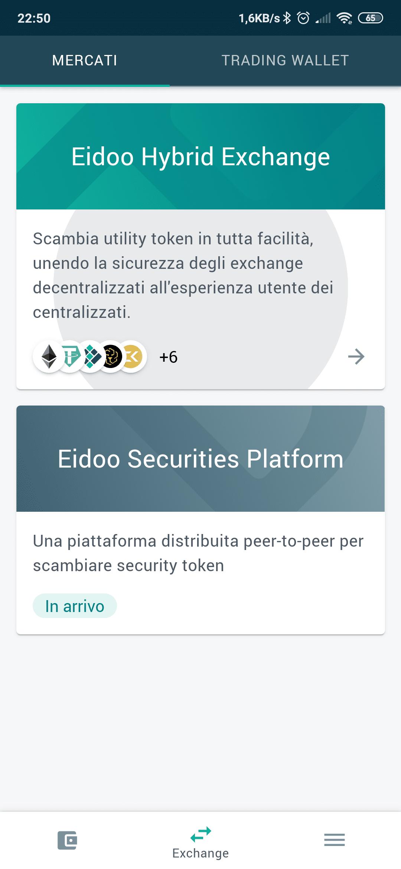 Eidoo Exchange Ibrido