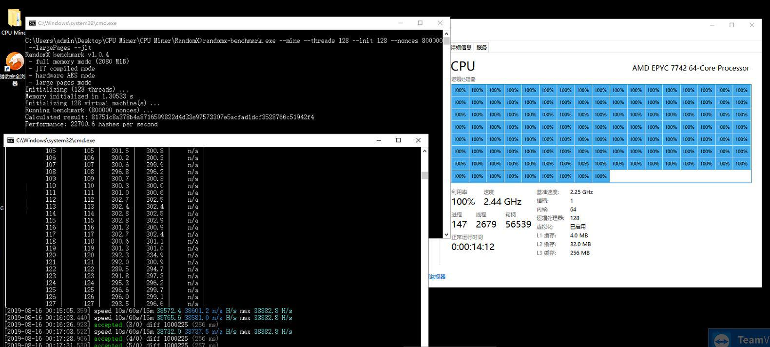 AMD Epyc 7742 RandomX