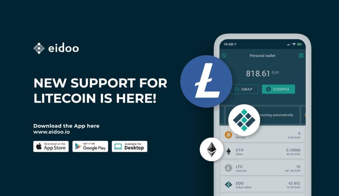 Eidoo: il wallet ora supporta anche Litecoin