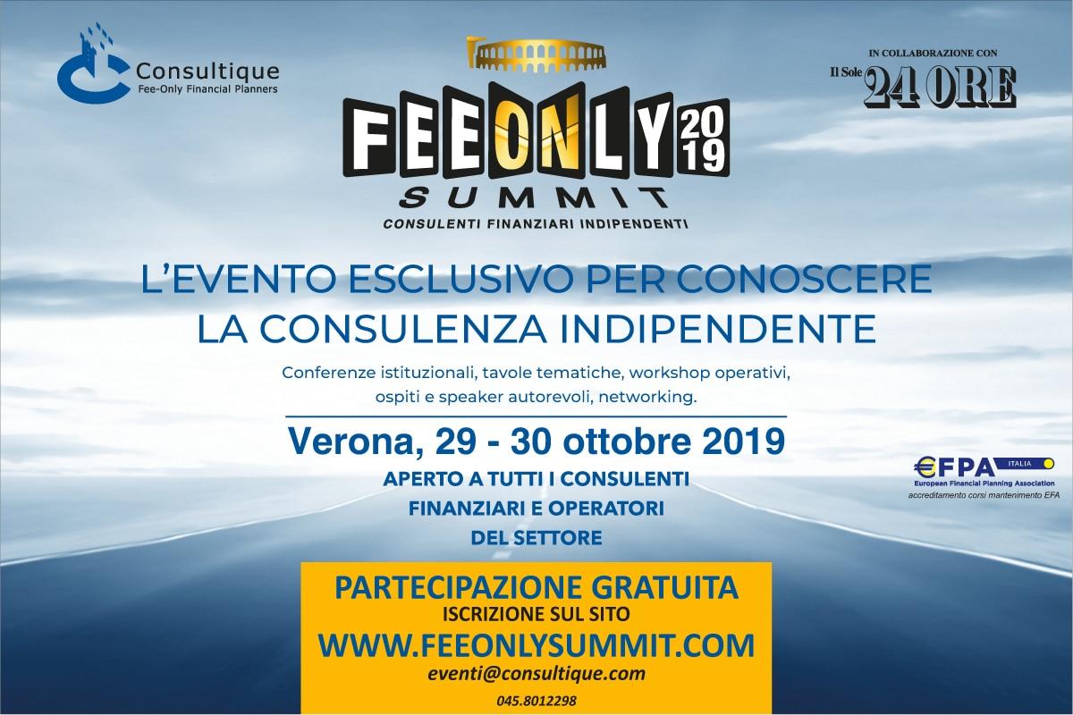 Conto alla rovescia per il FeeOnly Summit 2019