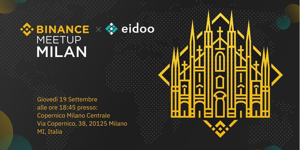 Binance e Eidoo insieme per un meetup a Milano