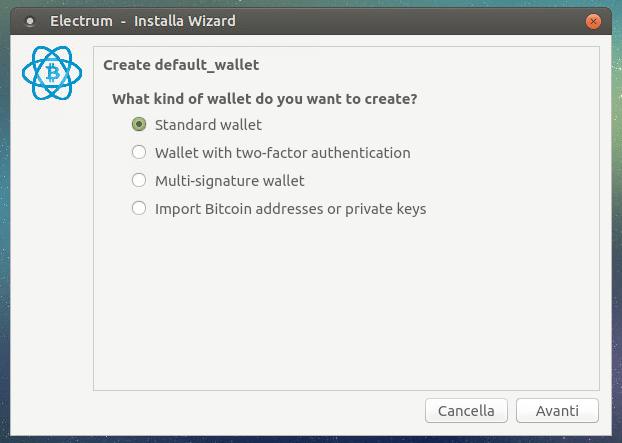 Guida Electrum Bitcoin Wallet Cold storage