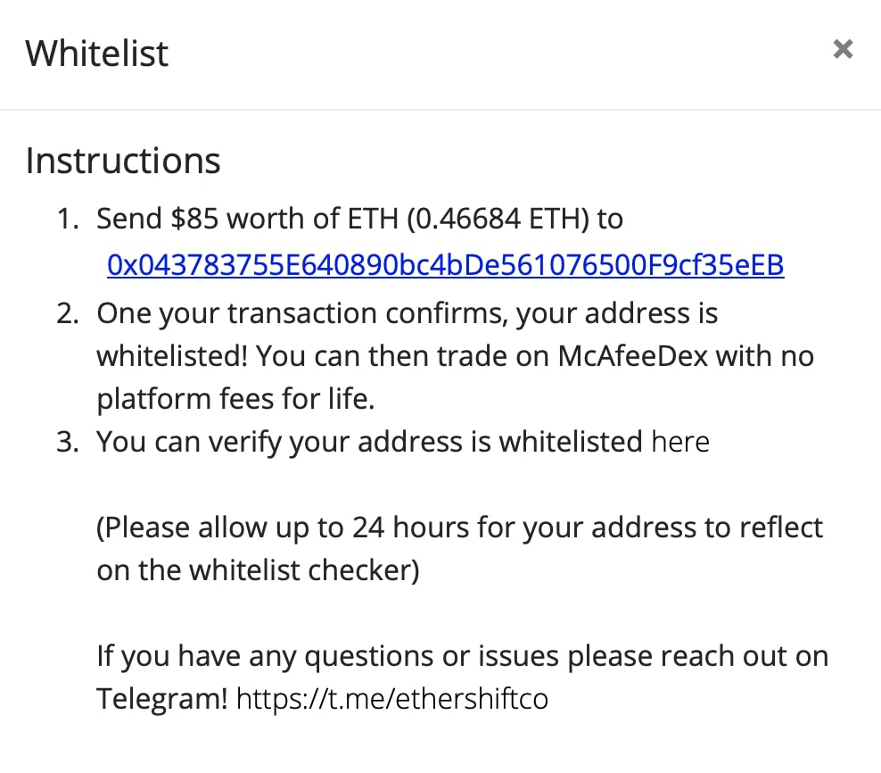 fee exchange mcafee decentralizzato guida