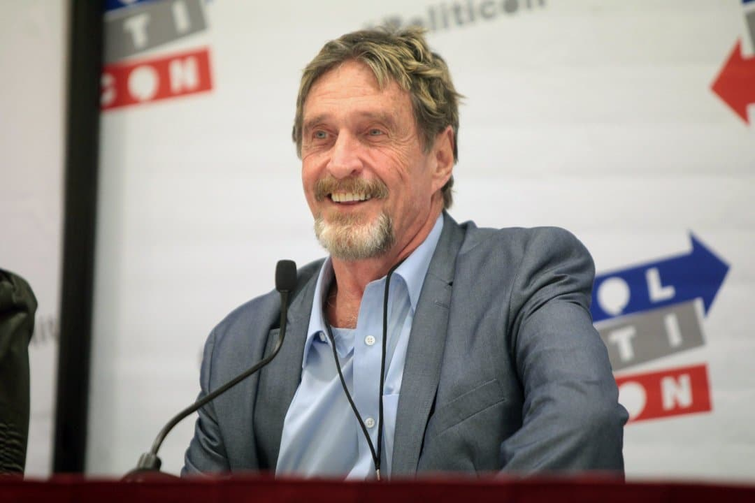 john mcafee exchange crypto