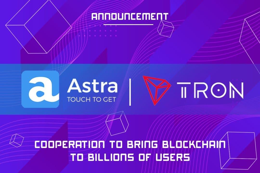 Astra: nuova partnership per la blockchain di Tron