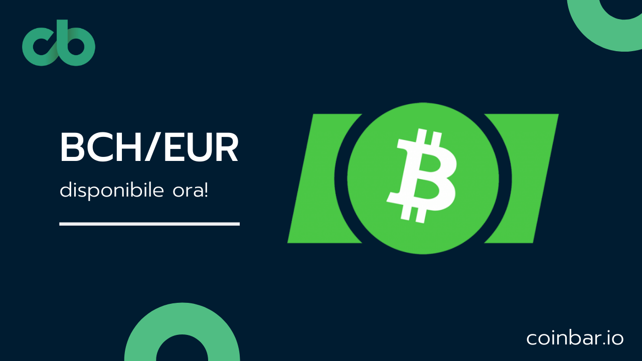 Bitcoin Cash listato sull'exchange Coinbar