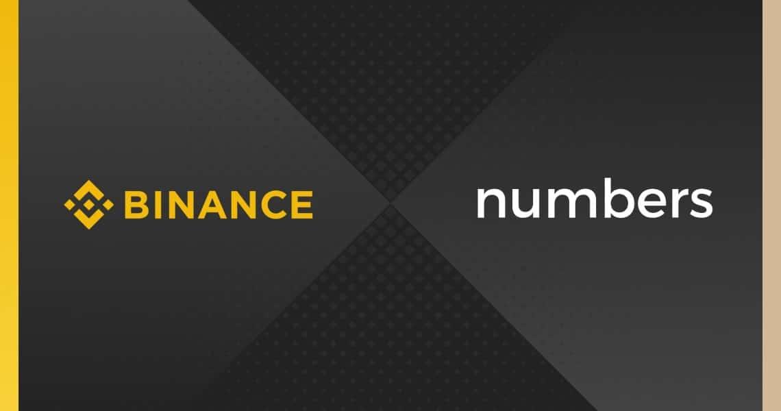 Binance investe nel protocollo blockchain Numbers per il tracciamento dei dati