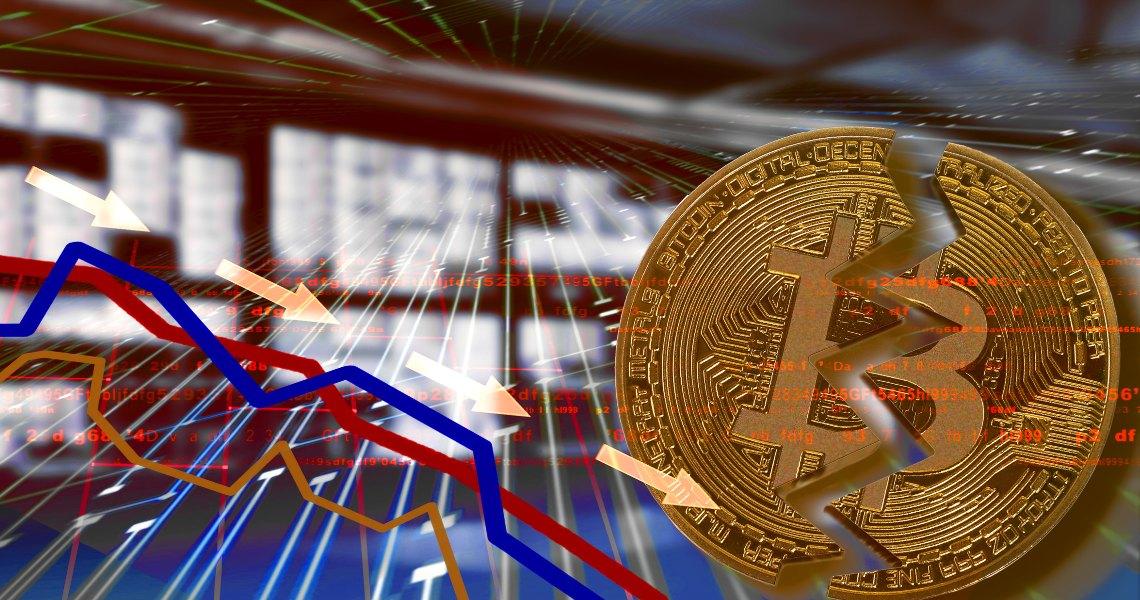 Bitcoin segue le borse e precipita a 7800 dollari