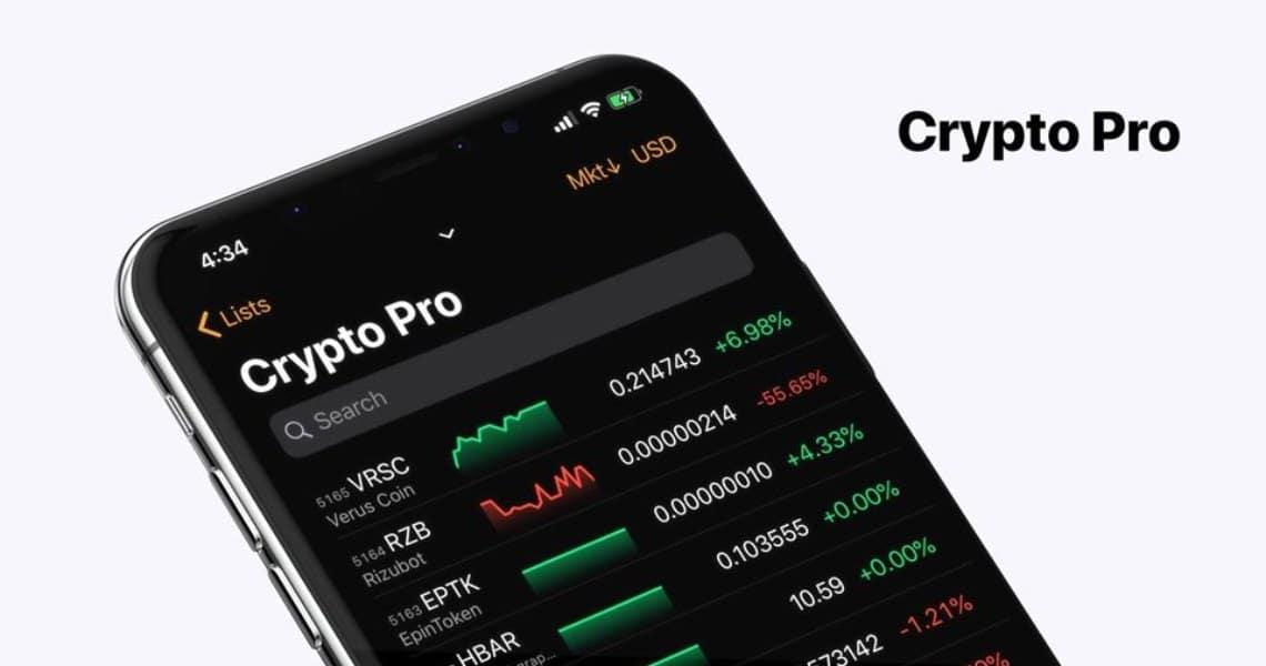 Crypto Pro: la app per seguire il portafoglio di criptovalute