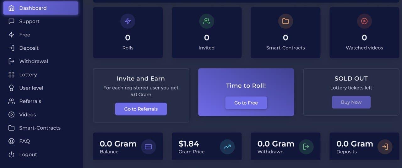 gram tokens gratis