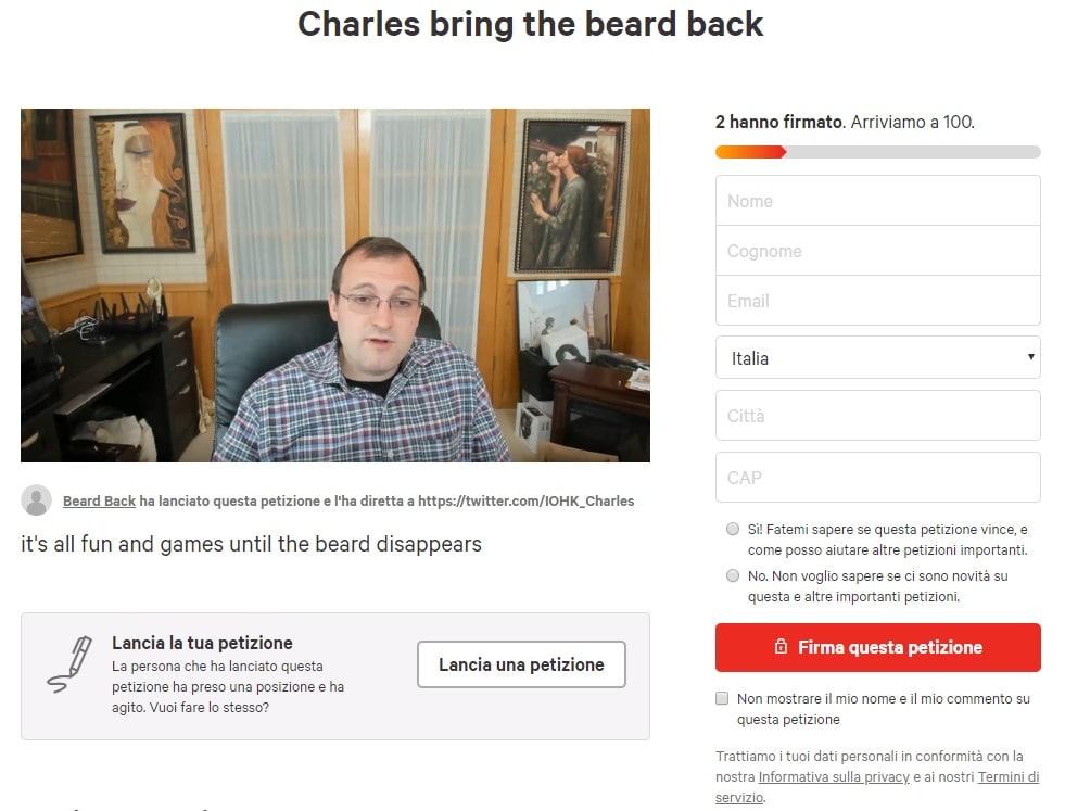 charles hoskinson petizione