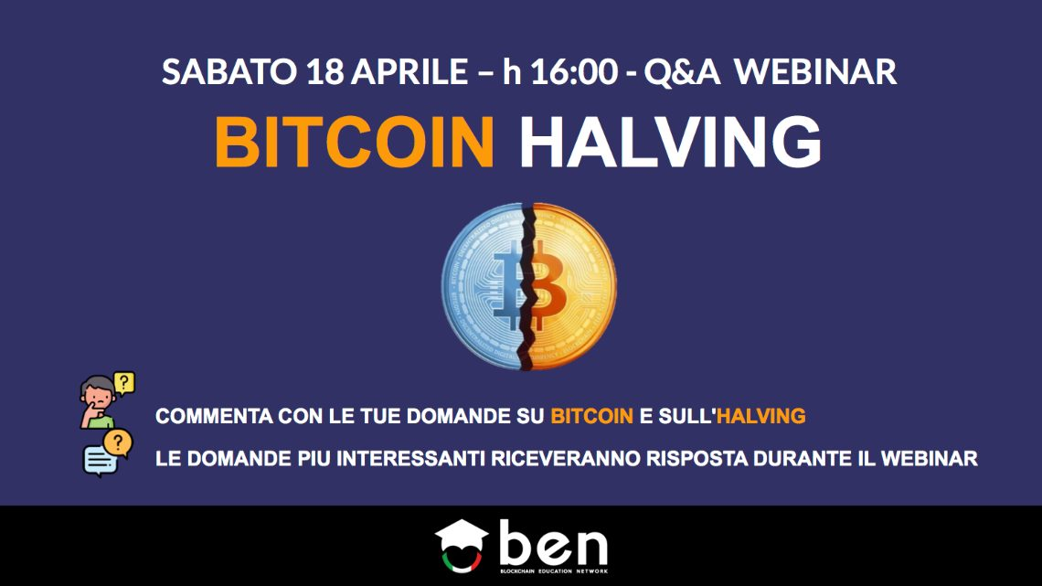 Bitcoin: un evento online in attesa dell'halving