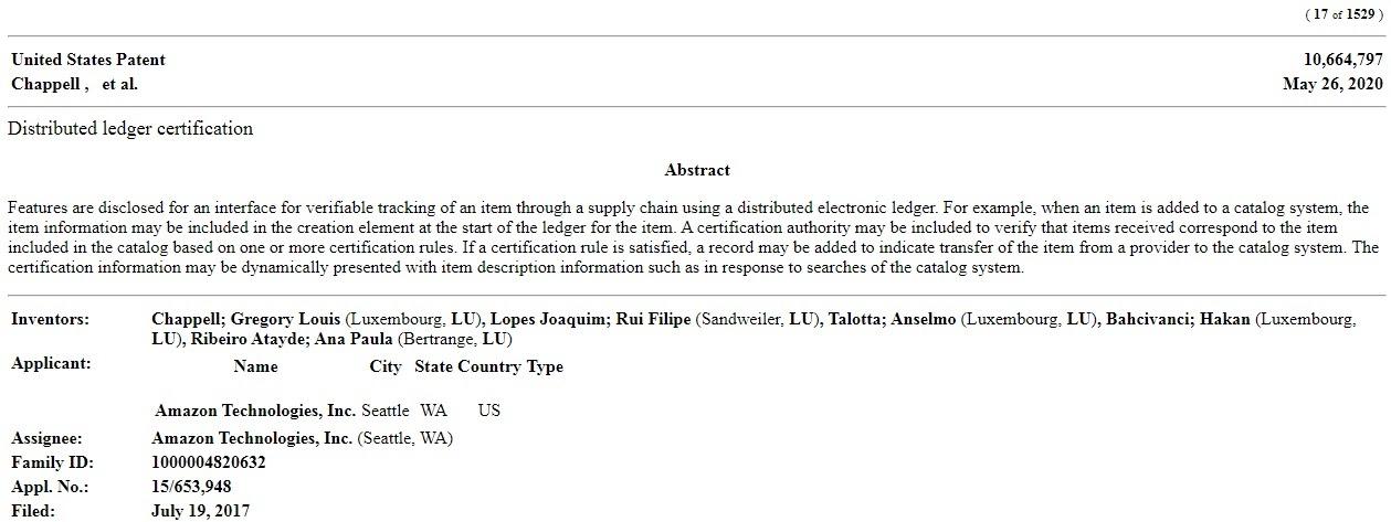 brevetto Amazon