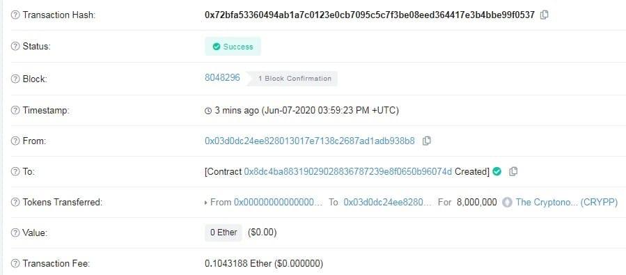 create ethereum token