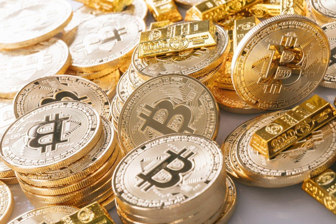 Il prezzo di Bitcoin non sta seguendo la salita dell'oro