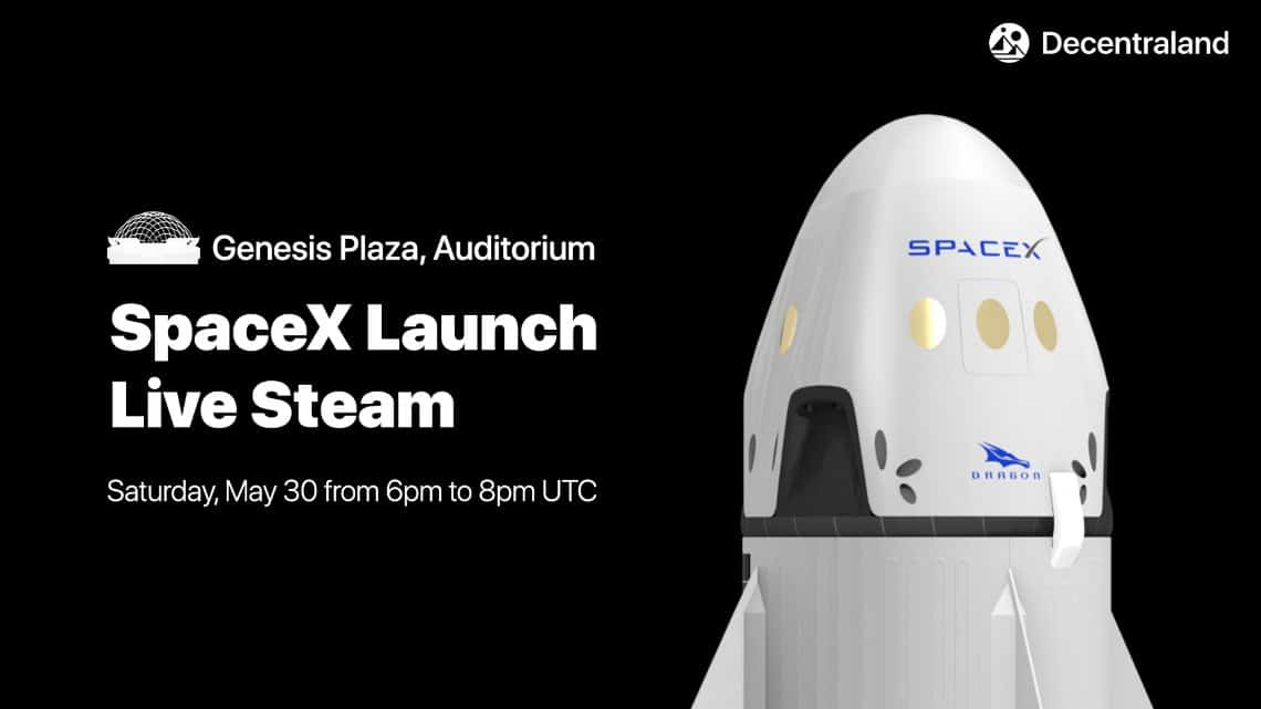 Il lancio di SpaceX in diretta su Ethereum
