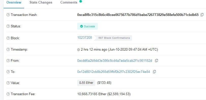transazione Ethereum