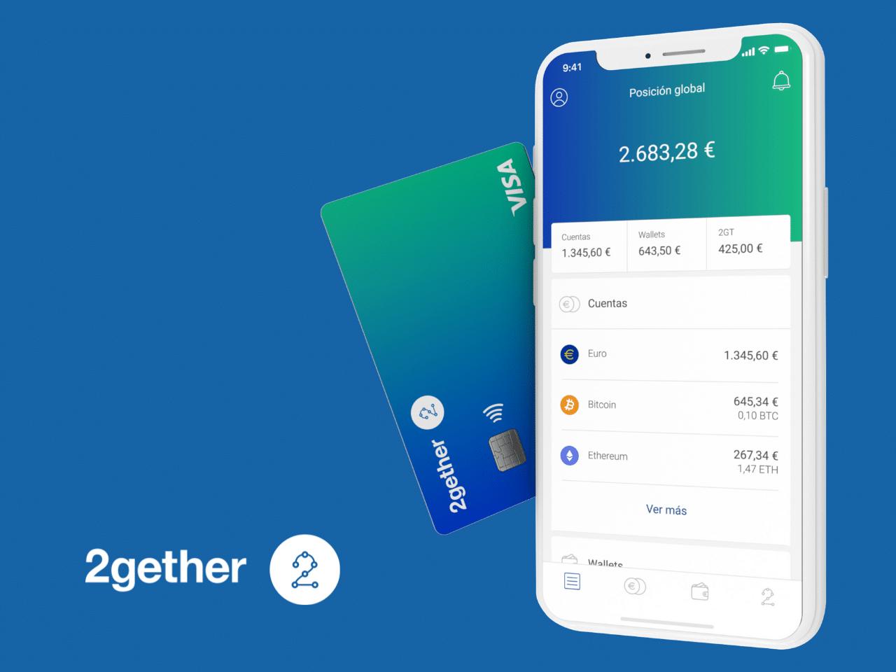 Tutti i vantaggi di 2gether, l'app per comprare criptovalute con carta Visa