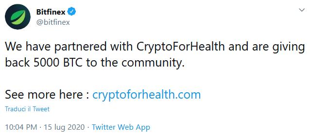 attacco hacker crypto Bitfinex