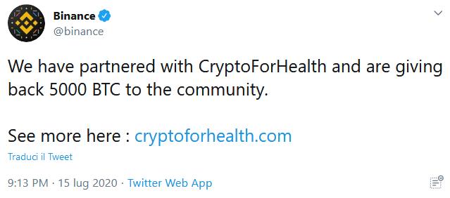 attacco hacker crypto binance