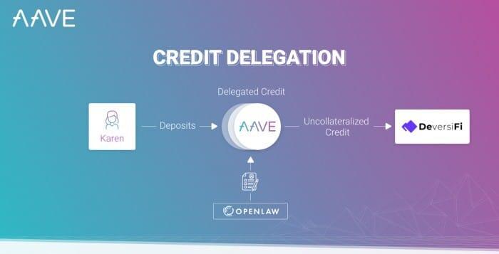 Aave credit delegation