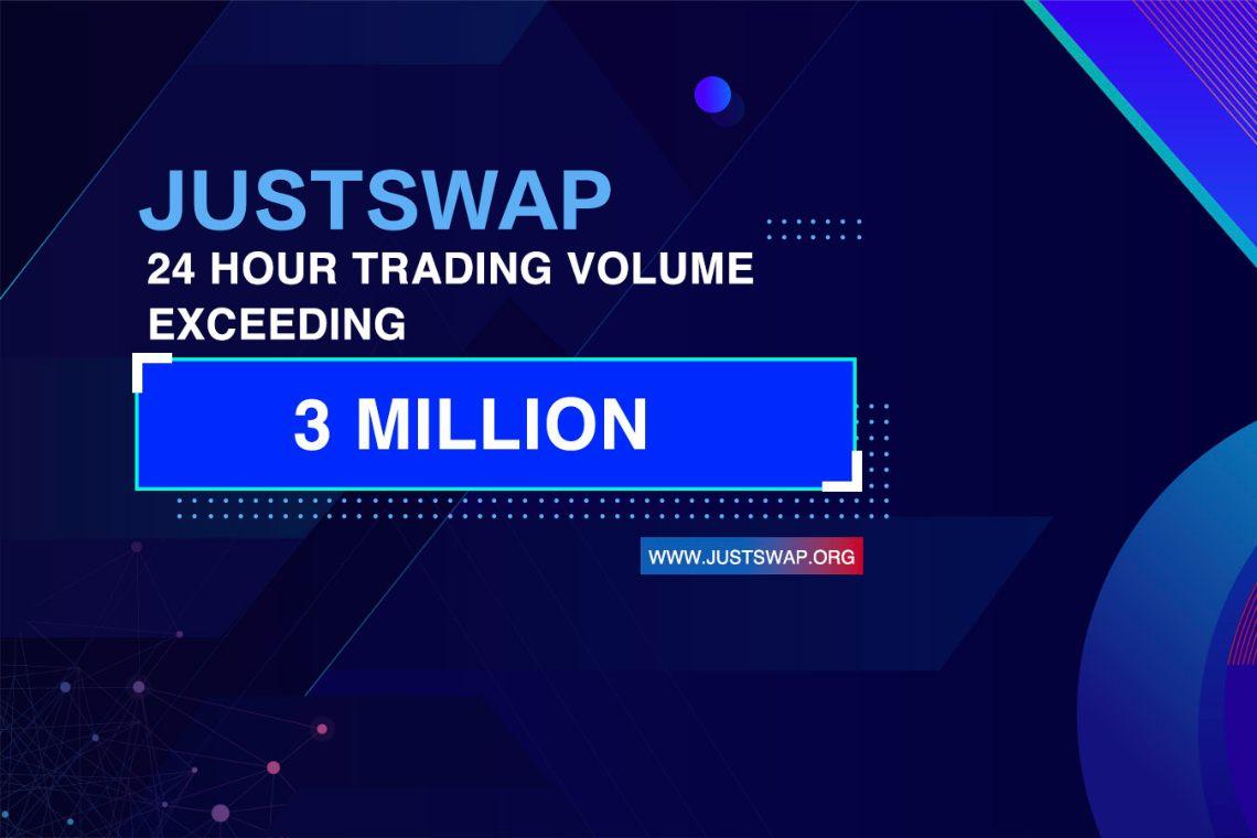 JustSwap, lancio da record: 3,5 milioni di dollari in 24 ore