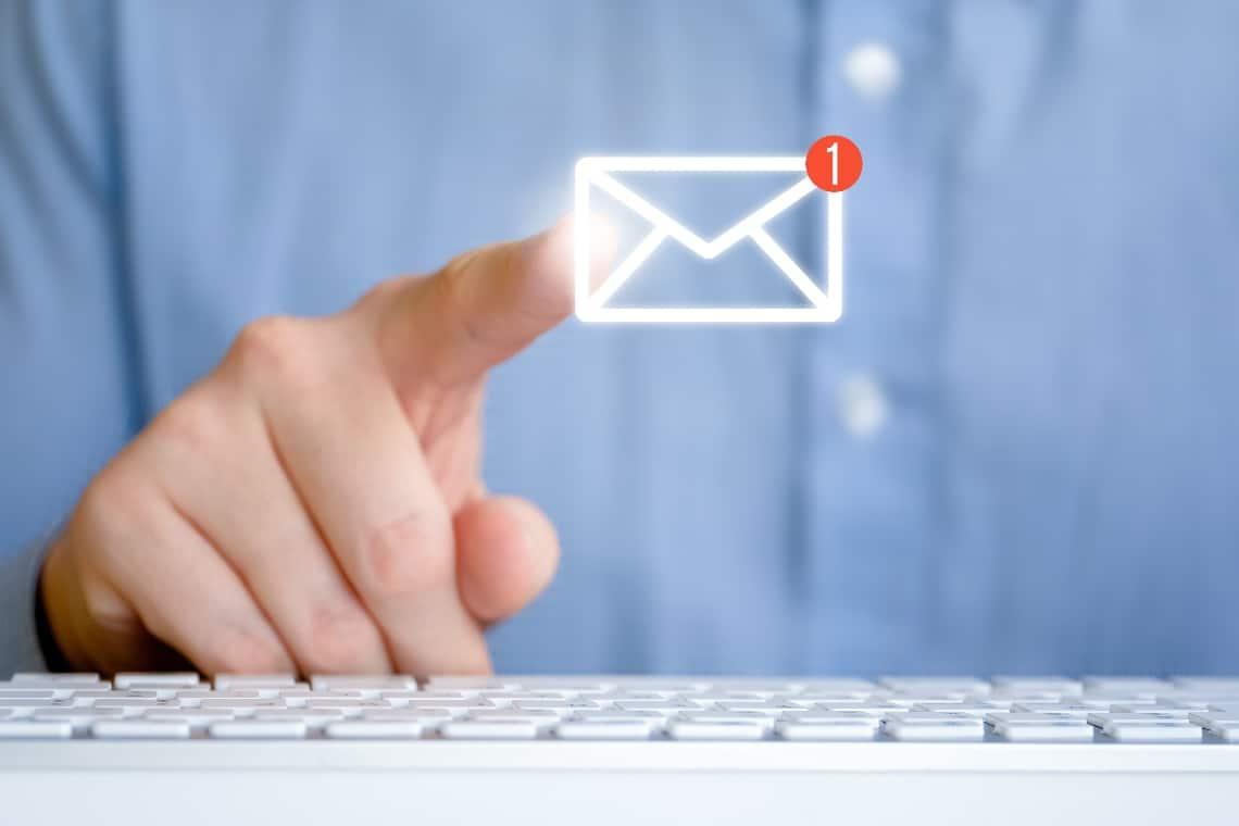 Come mandare una email ad un indirizzo Ethereum