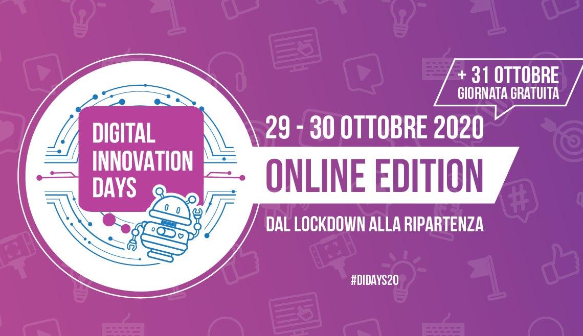 Digital Innovation Days Italy 2020: tante novità per la prima edizione tutta online