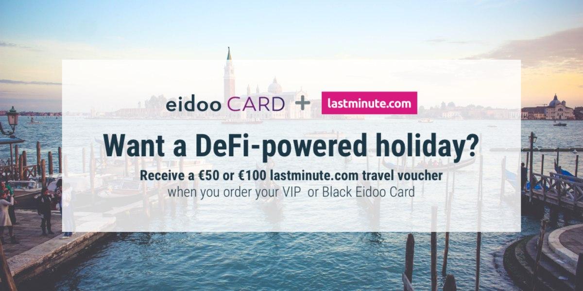 Eidoo regala voucher per Lastminute.com
