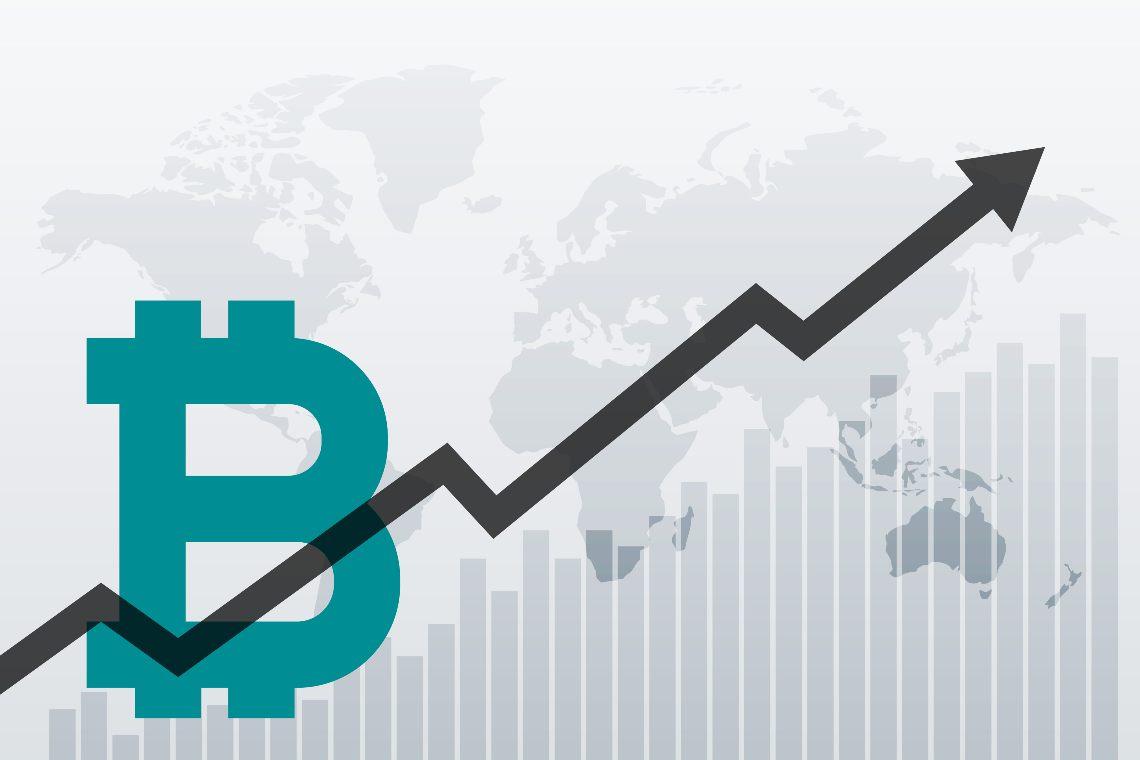 Sale il prezzo di Bitcoin e ritorna la comparazione con l'oro
