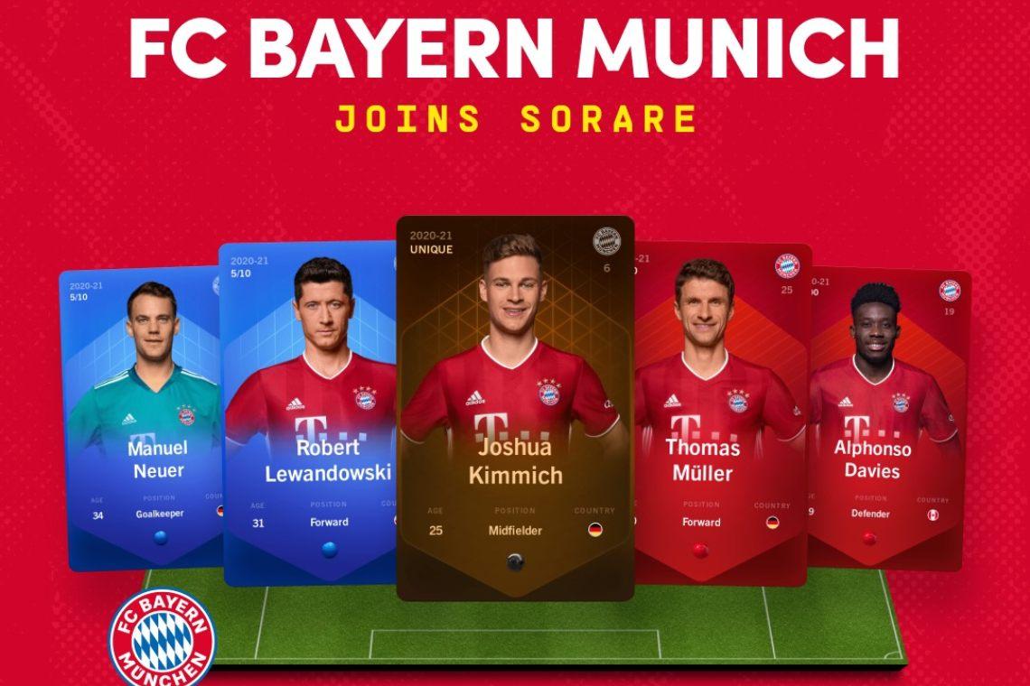 Sorare aggiunge anche il Bayern Monaco FC