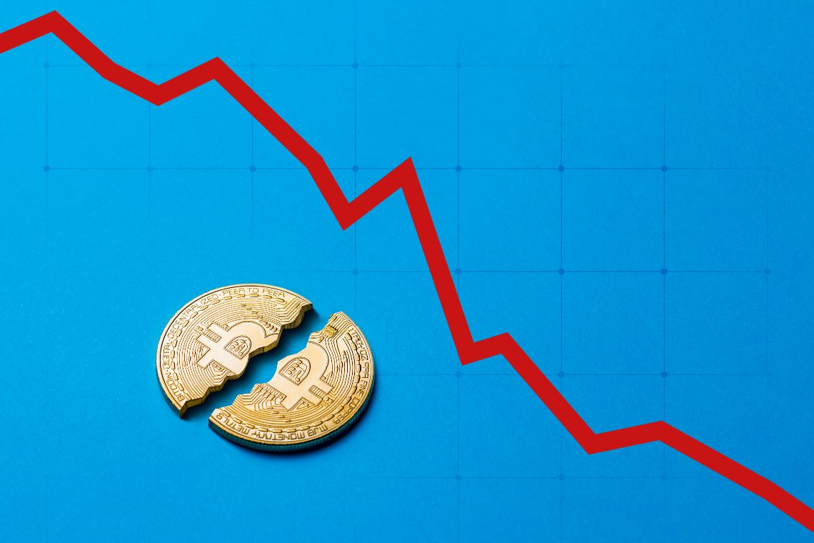 Crollo criptovalute, ribassi a doppia cifra: BTC ed ETH -12%