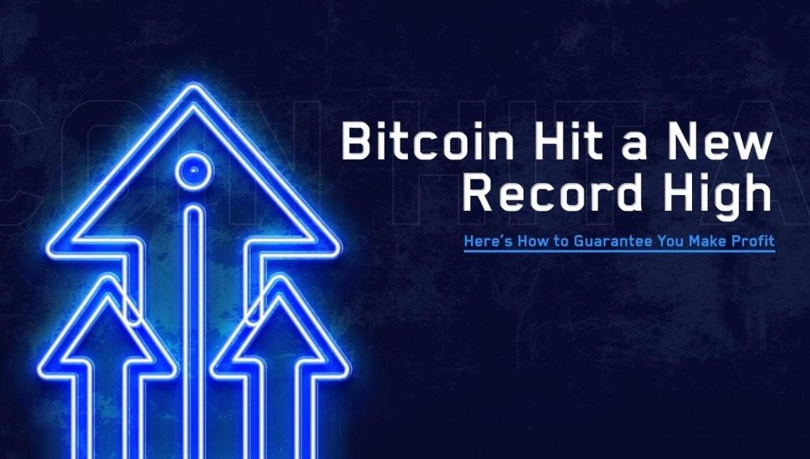 Bitcoin ha raggiunto un nuovo record. Ecco come garantirsi un profitto