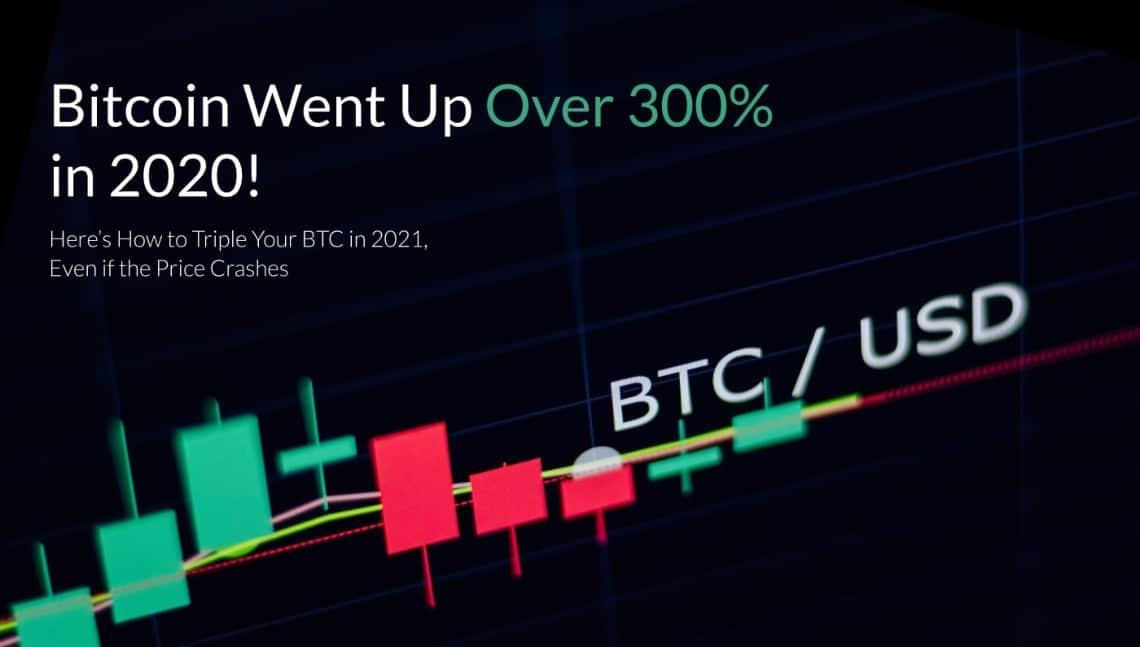 Bitcoin è salito di oltre il 300% nel 2020!