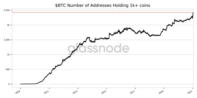 Bitcoin: record wallet
