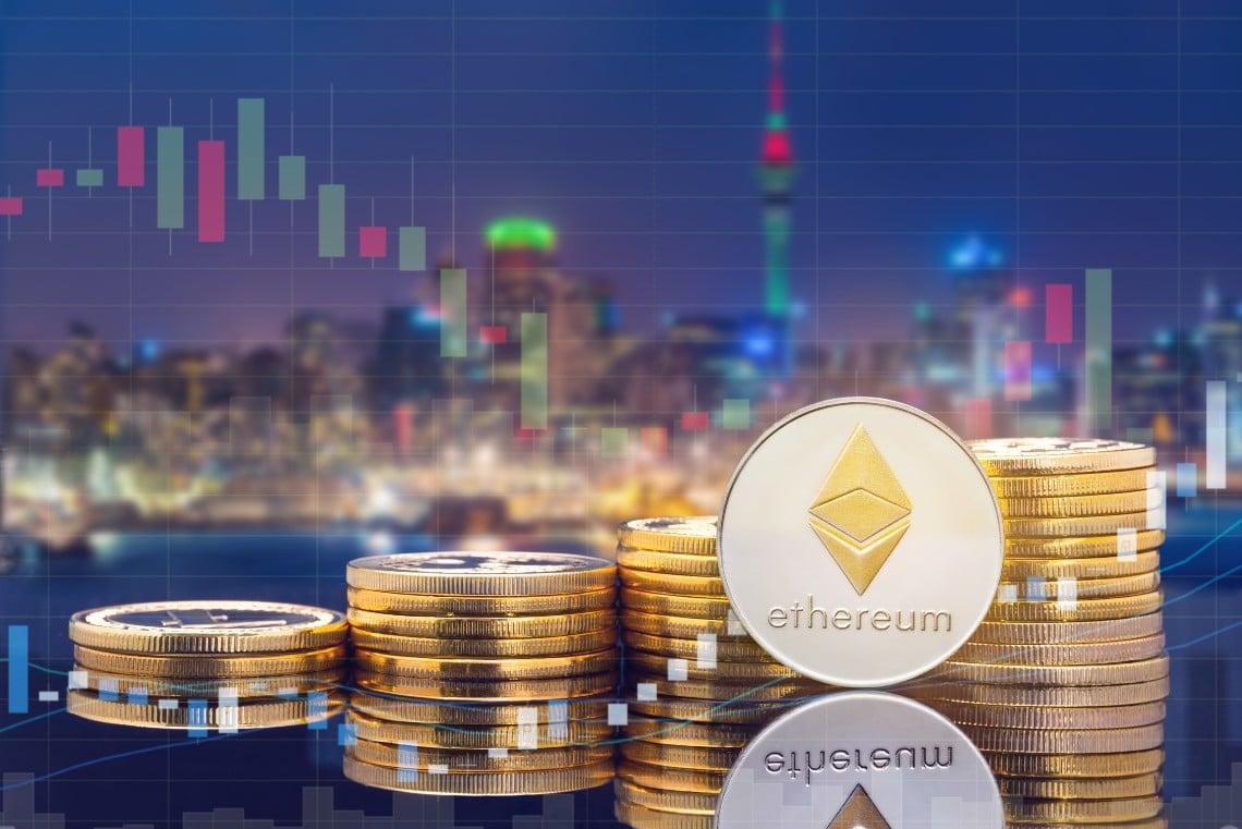 Ethereum in calo: prevalgono le prese di profitto