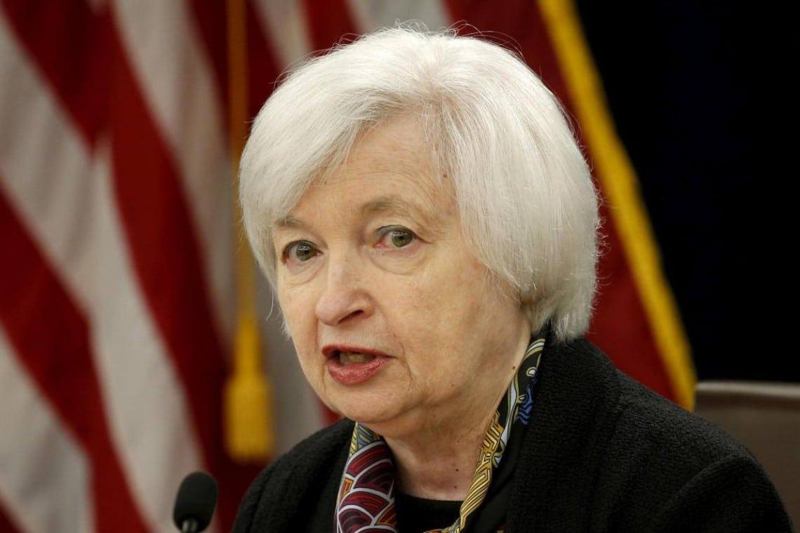 Le dichiarazioni di Janet Yellen fanno calare Bitcoin