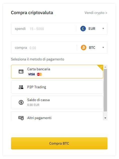 posso scambiare ethereum per bitcoin su binance registrarsi su binance