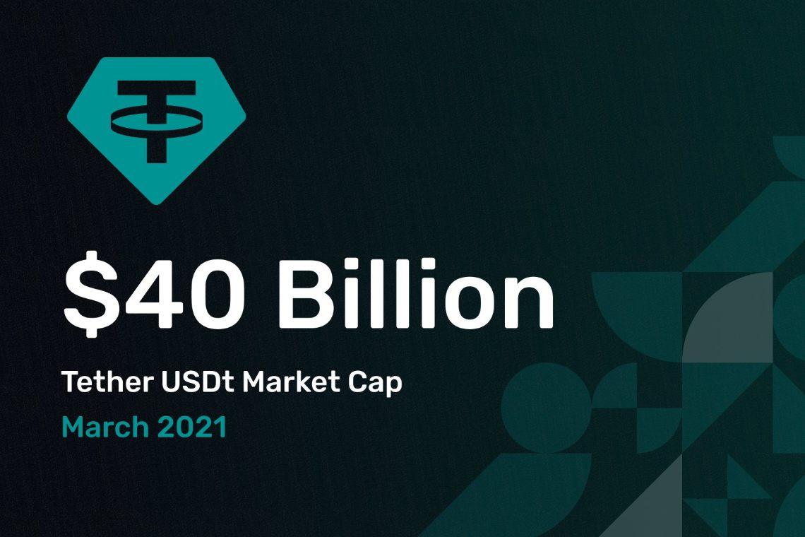 Il market cap di Tether supera i 40 miliardi
