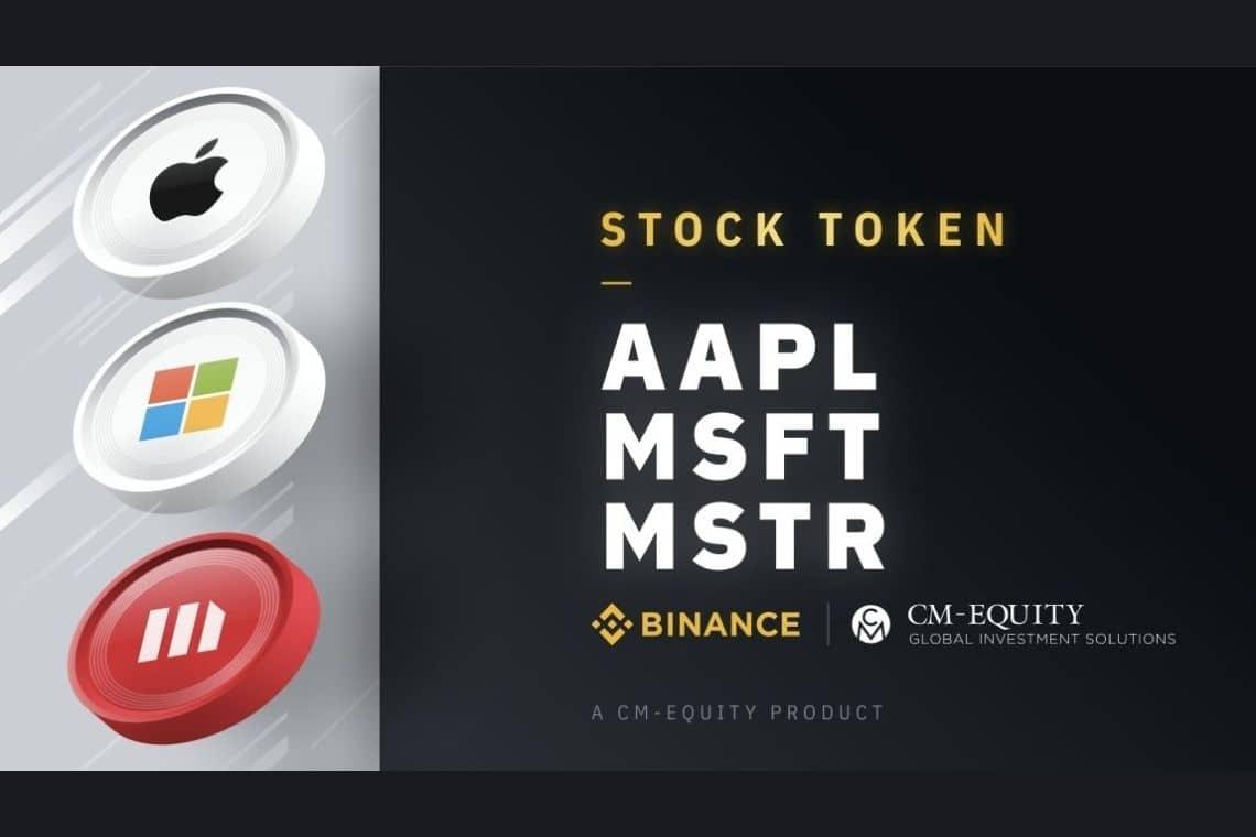 Binance stock tokens: debuttano Microstrategy, Apple e Microsoft