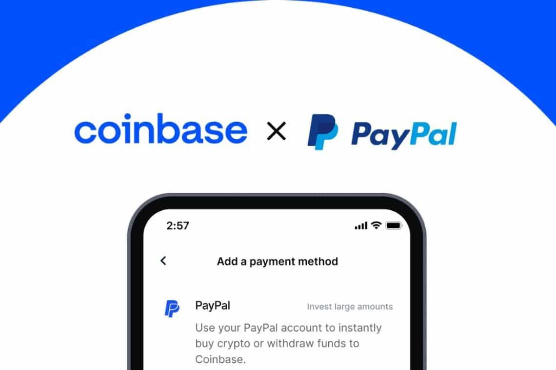 Su Coinbase ora è possibile acquistare con PayPal