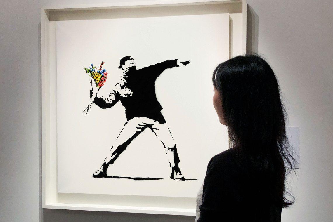 Il Banksy all'asta su Sotheby's venduto a 13 milioni