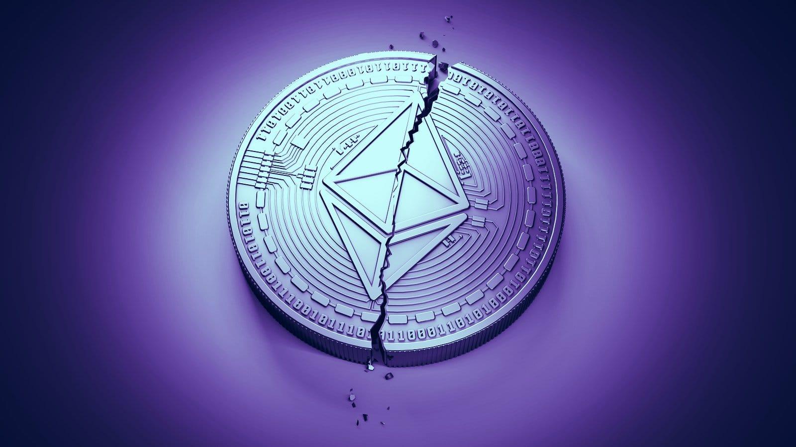 Ethereum: un bug sulla blockchain la fa splittare in due